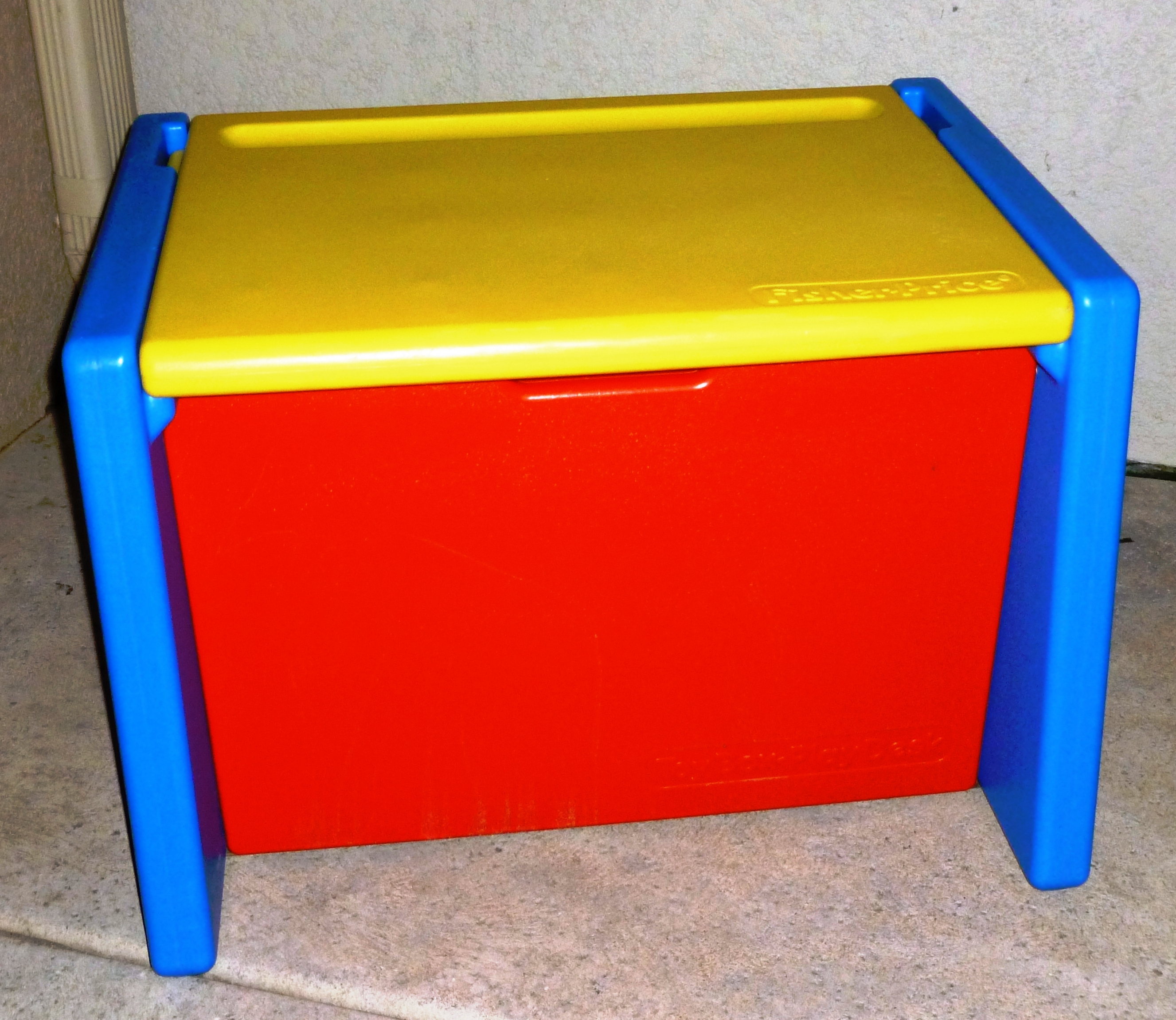 Large plastic Fisher Price toy box