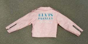 Back of a pink Elvis Presley jacket