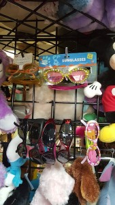 Display of kids' sunglasses.