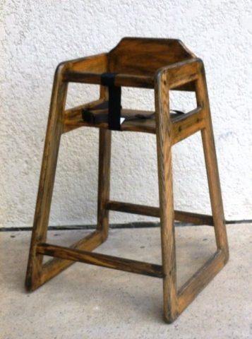 Tall wood booster seat