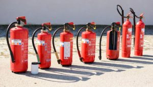 Photo of several fire extinguishers
