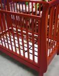 Wood crib, red
