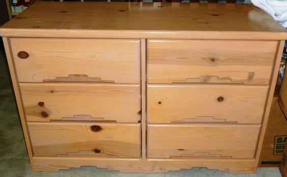 Elegant childrens' wood dresser