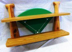 Wood baseball themed shelf